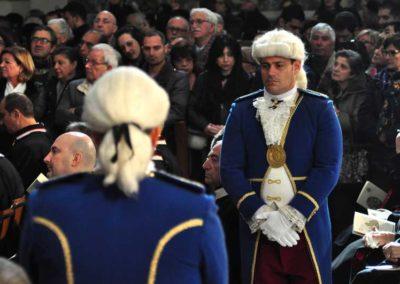 Durante la Messa del Pontificale