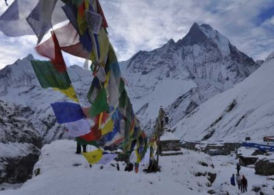 Il Machapucchare dall'Annapurna Base Camp