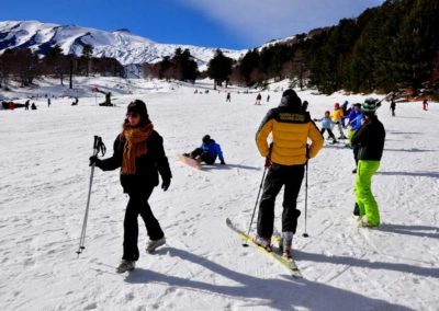 Etna Nord, sciatori