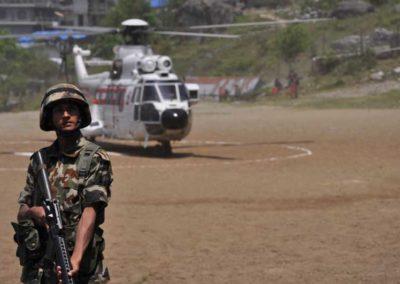 Barpak, l'elicottero presidenziale
