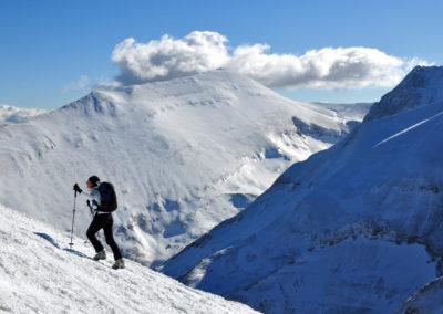 Sibillini, verso la vetta del Monte Argentella