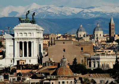Il Velino innevato da Roma