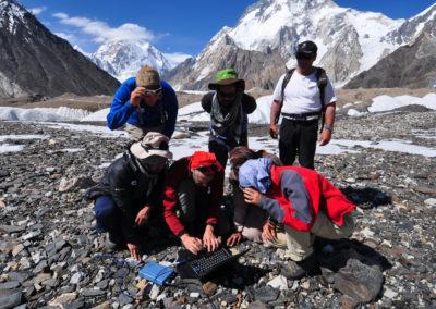 Misurazione della profondità del ghiacciaio con il georadar