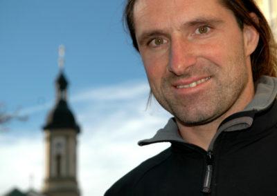 2009, Alex Huber sulla piazza di Traunstein