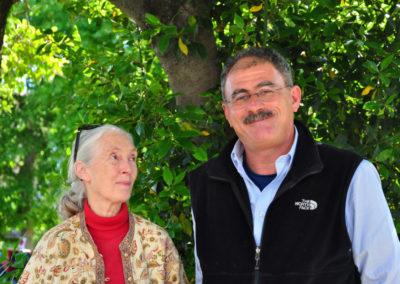 """2013, con Jane Goodall, la """"signora degli scimpanzé"""""""
