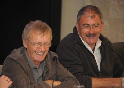 2013, con Tony Wheeler, fondatore della Lonely Planet, al Festival di Trento