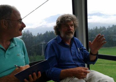 2015, intervista a Reinhold Messner sulla cabinovia di Plan de Corones