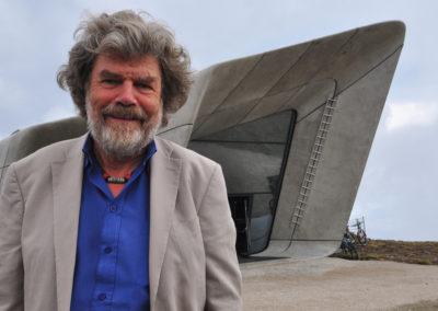 2015, Reinhold Messner al Messner Museum di Plan de Corones, 2015