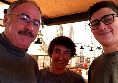 2016, con David Lama e Jacopo Ardito a Innsbruck