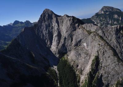 Alpi Apuane, la parete Nord del Pizzo d'Uccello