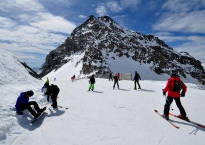 Monterosa Ski, sciatori al Colle della Bettaforca