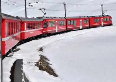 Engadina, la Ferrovia Retica al Passo del Bernina