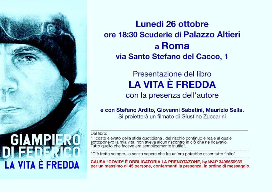 """PRESENTAZIONE DI """"LA VITA E' FREDDA"""" DI GIAMPIERO DI FEDERICO"""